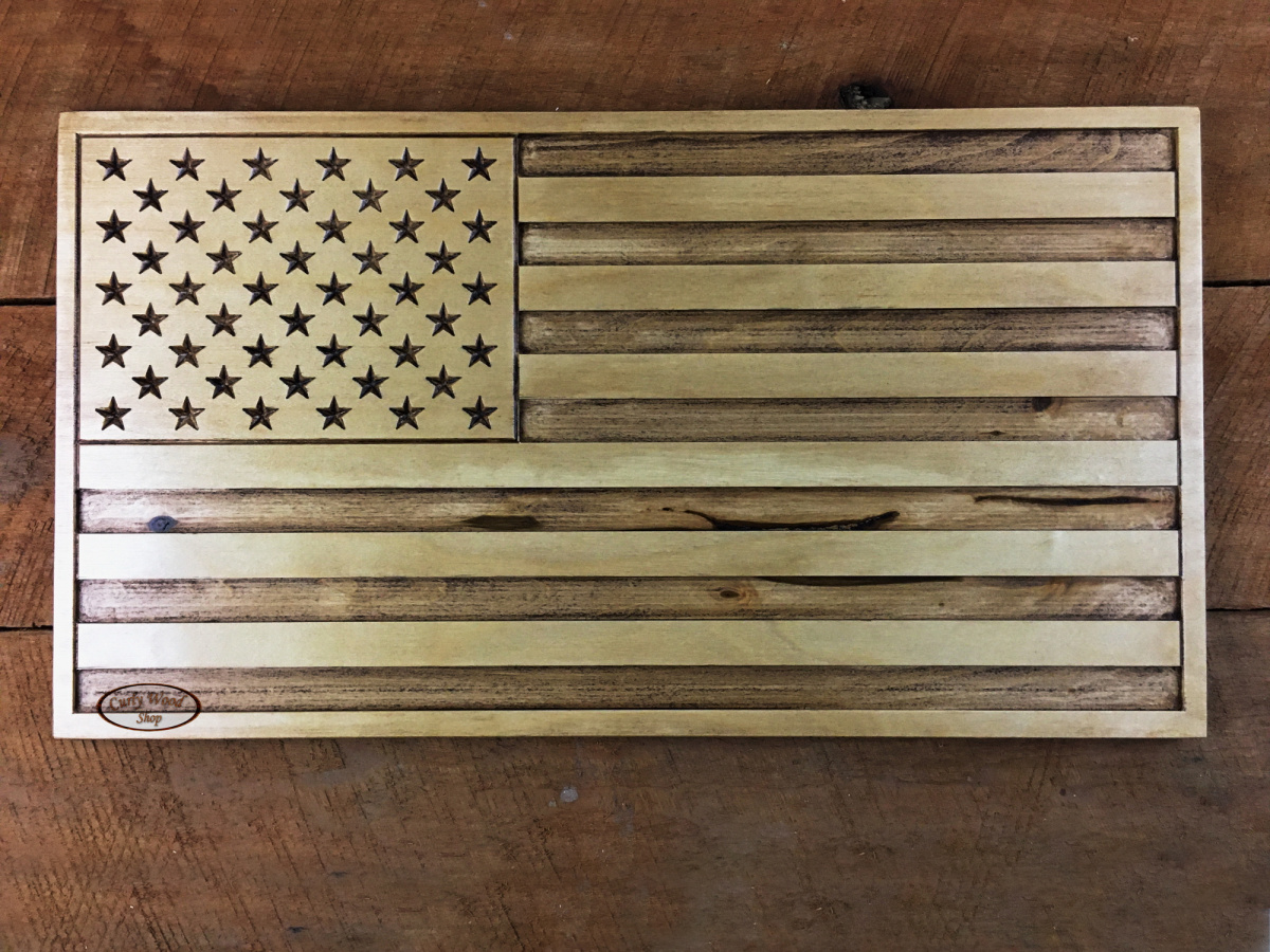 V-bit photo carving and US Flag-001-us-flag-distressed-finish.jpg