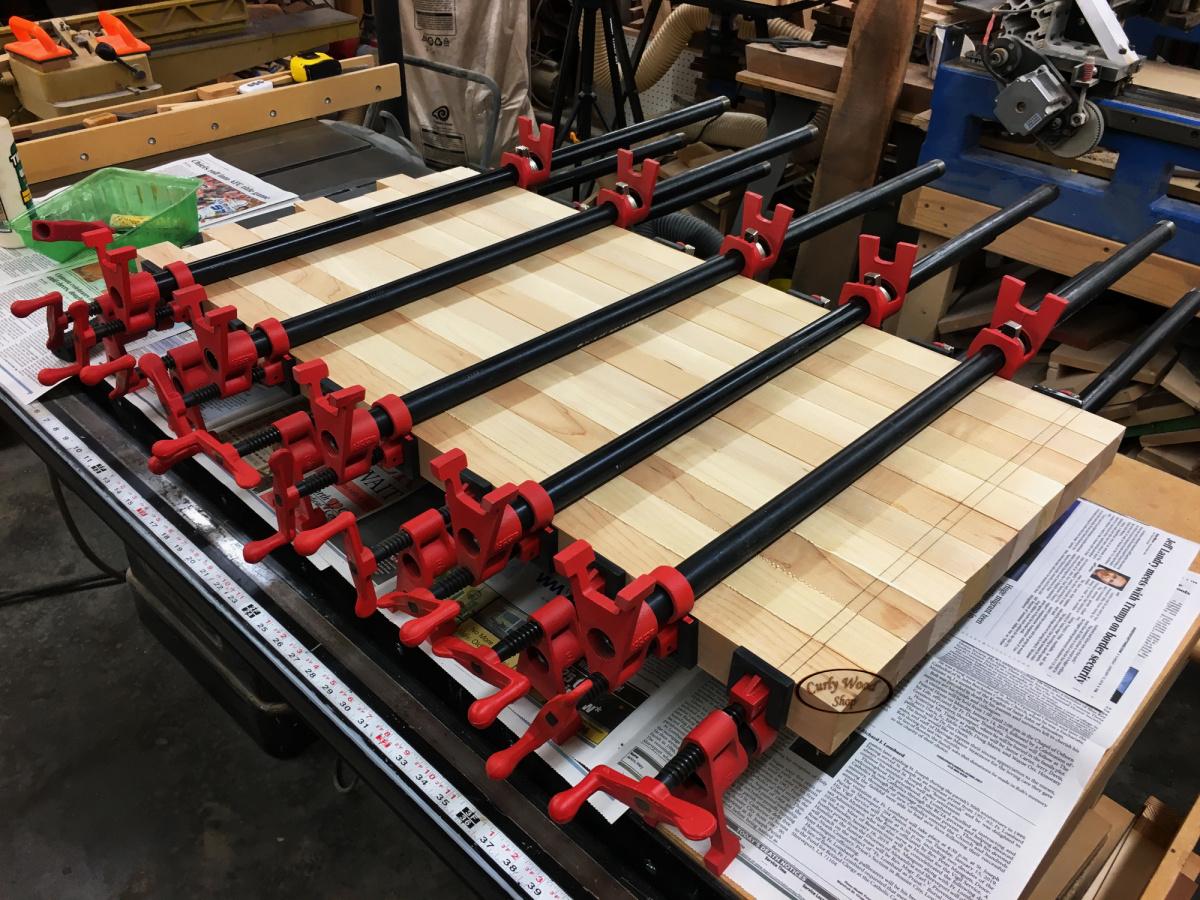 Large Maple cutting board-008-glued-clamped.jpg