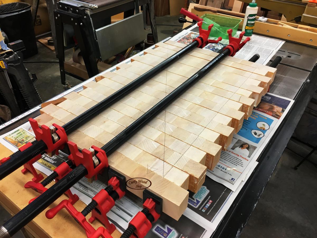 Large Maple cutting board-014-glued-end-grain-strips.jpg