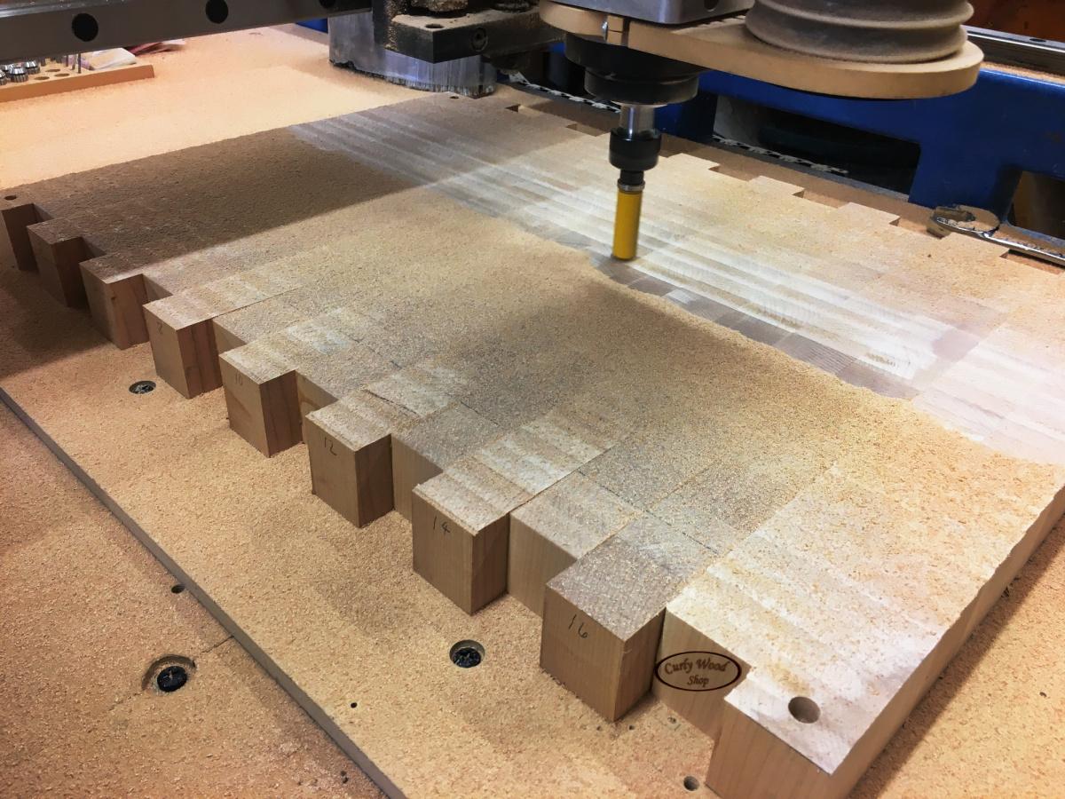 Large Maple cutting board-015-50-inch-planer-doing-job.jpg