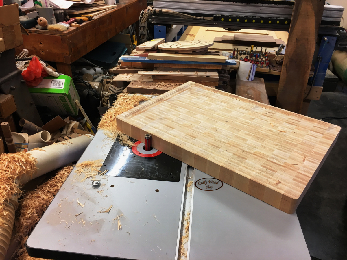 Large Maple cutting board-019-flush-trimming-sides.jpg