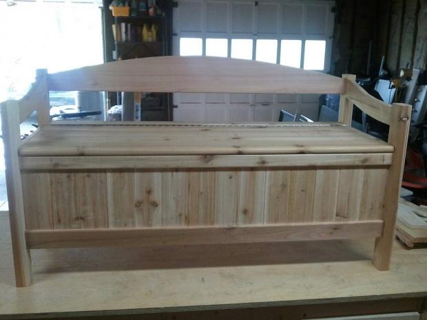 Cedar Storage Bench Woodworking Talk Woodworkers Forum