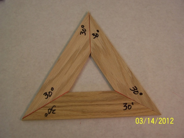 Equalateral triangle - Woodworking Talk - Woodworkers Forum