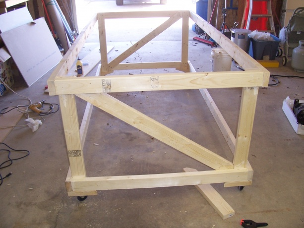 My 4x8 Rolling Work Bench Woodworking Talk Woodworkers Forum