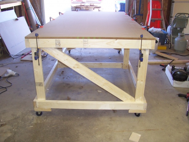 4x8 rolling work table plans