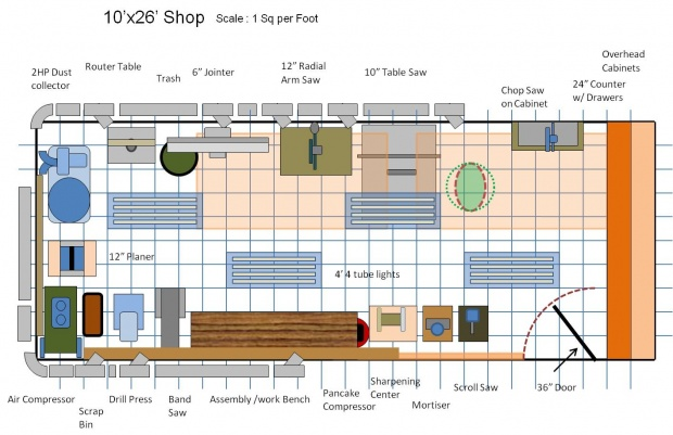 Help With A New Shop Layout Woodworking Talk