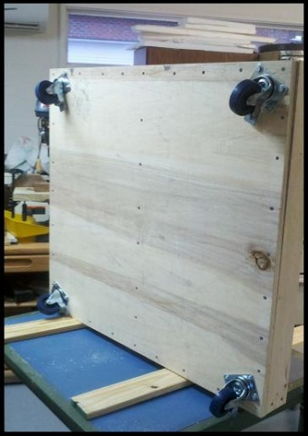 Rolling Base For Assembly Table Woodworking Talk