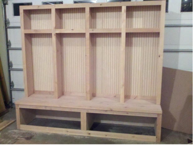 Mudroom Locker Boot Bench Woodworking Talk Woodworkers