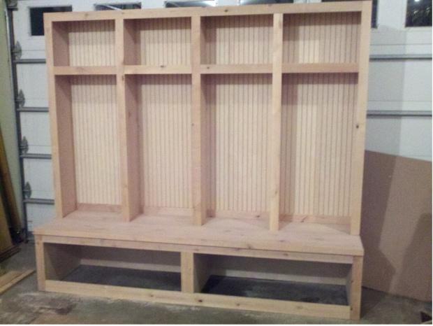 Mudroom Locker Boot Bench Woodworking Talk Woodworkers