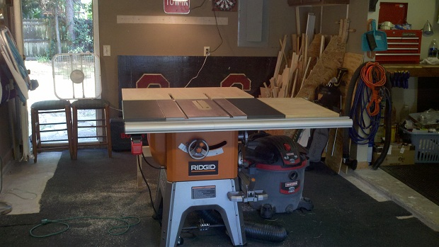 My Ridgid R4512 Table Saw Outfeed Page 2 Woodworking