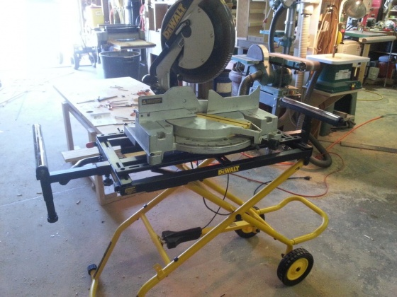 Dewalt Dwx726 Rolling Miter Saw Stand Woodworking Talk