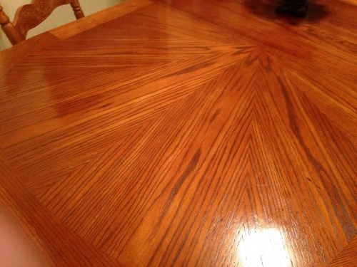 Nail Polish Remover On Wood Floor To Bend Light