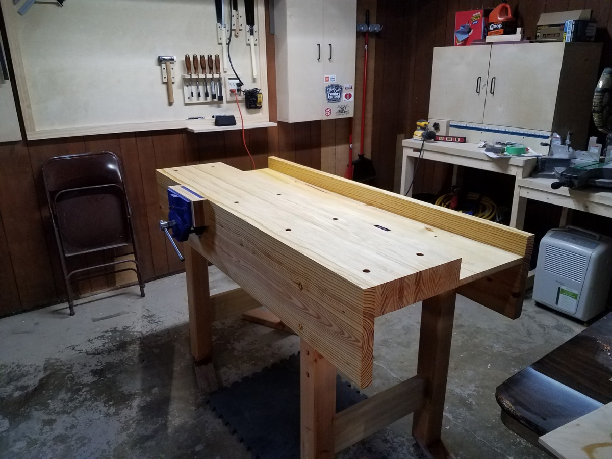 New Woodworker Advice On Smoothing Top Of Workbench Woodworking