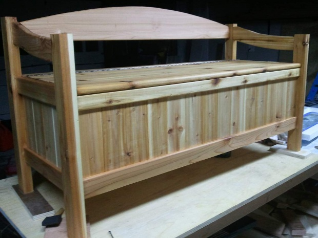 Cedar Storage bench - Woodworking Talk - Woodworkers Forum