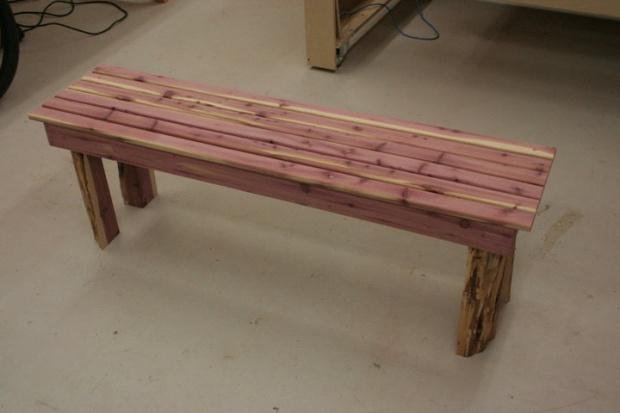 Rustic Cedar Garden Bench Woodworking Talk
