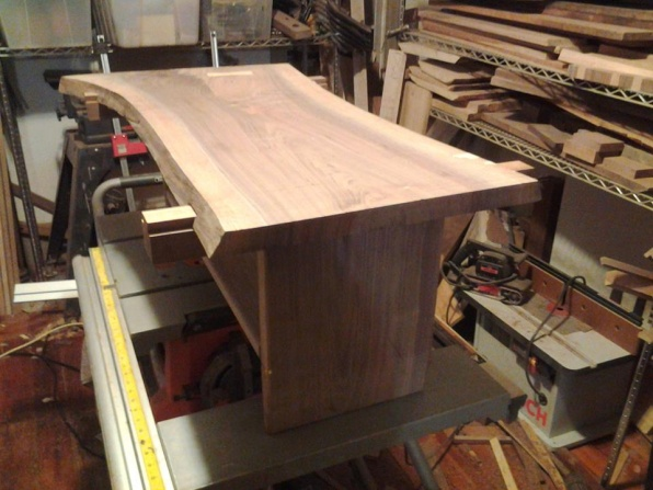 I Did It Sliding Dovetails To Attach Slab Legs To A Slab
