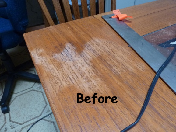 White Stain On Teak Table Woodworking Talk Woodworkers