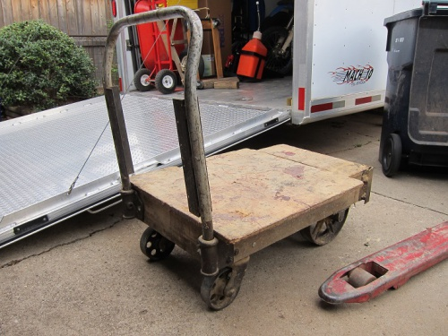 Warehouse Cart Restoration To Coffee Table Woodworking Talk