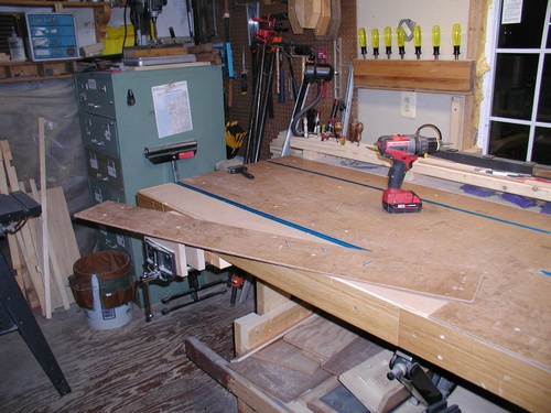 Small shop workbench revisited woodworking talk