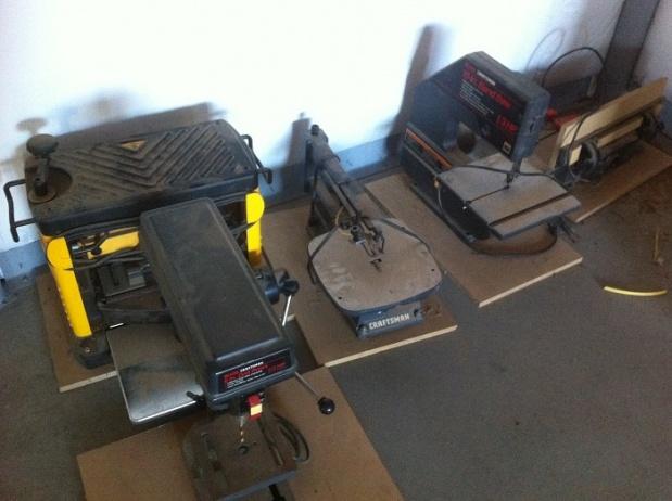 benchtop tool storage
