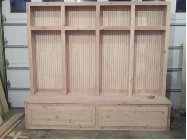 Mudroom Locker Boot Bench Woodworking Talk Woodworkers Forum