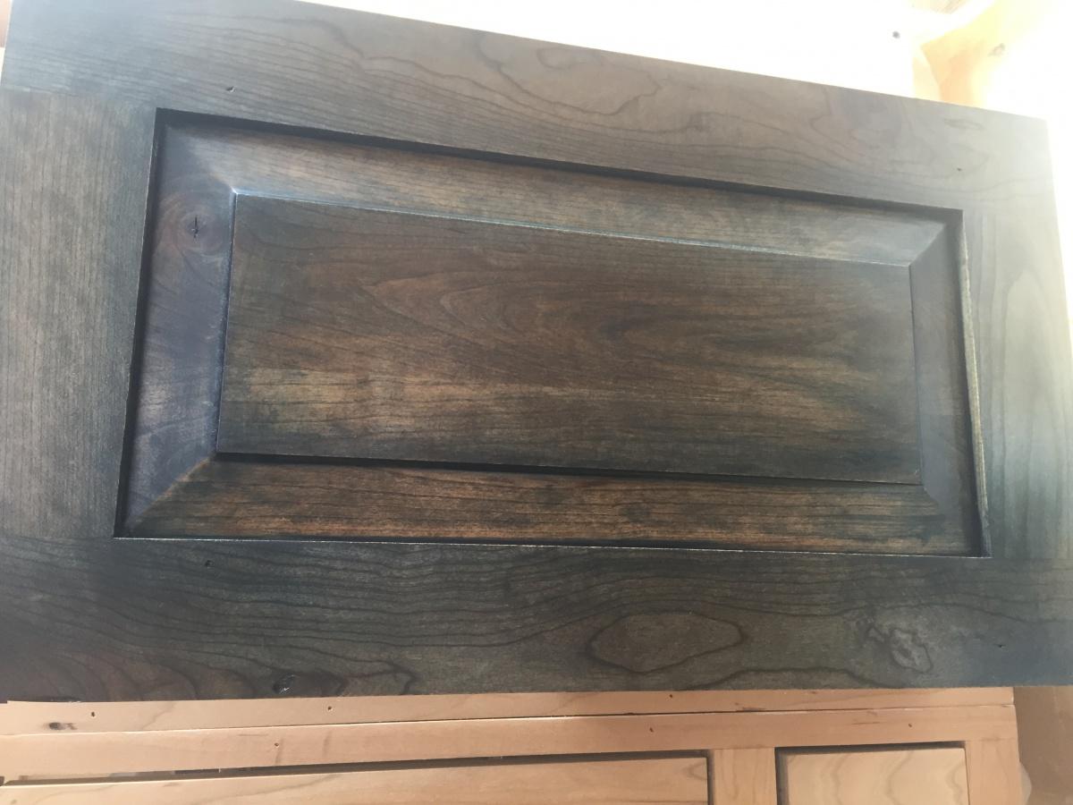 Newbie Staining My Cherry Wood Kitchen Cabinets Navy Blue