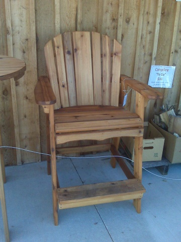 Adirondack Bar Chair Woodworking Plans