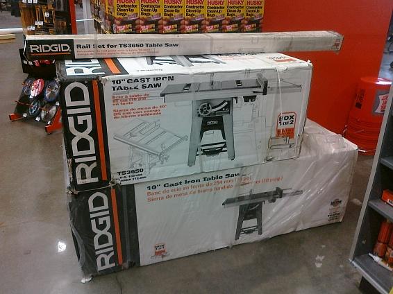 RIDGID Table Saw Extension