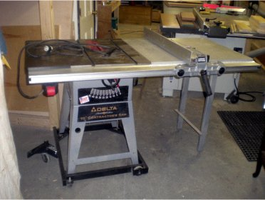 Delta 10 Inch Contractor Saw : Delta contractor table saw outfeed table,ridgid band saw miter gauge ...