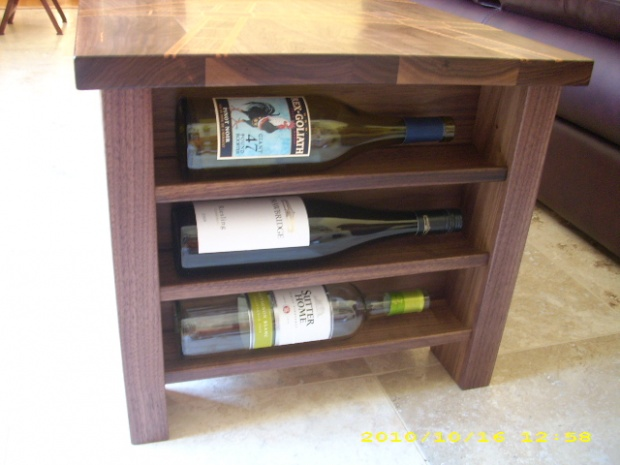 Film Strip And Wine Storage Themed Coffee Table Woodworking Talk
