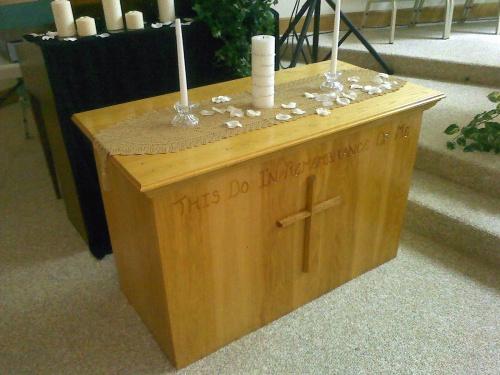 Curly Maple and Walnut cross - build thread-communion-table-0728122035.jpg