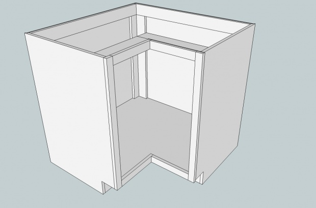 Need help with kitchen corner cabinet assembly - Woodworking Talk ...