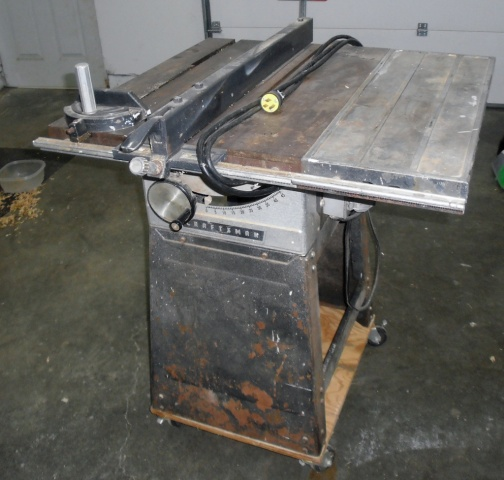 Vintage craftsman tablesaw woodworking talk woodworkers forum click image for larger version name craftsman table sawg views 7922 size greentooth Image collections