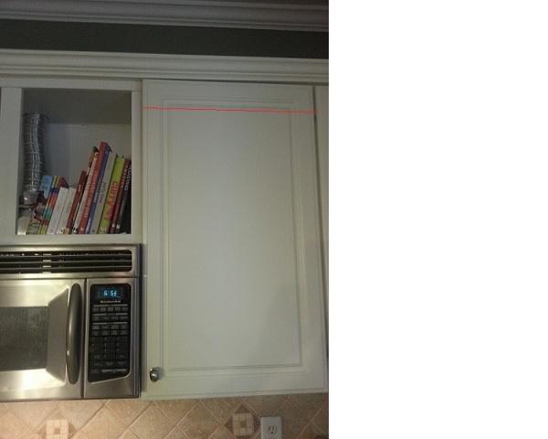 reducing a kitchen cabinet door from 31x12 to 20x12-cut-door.jpg