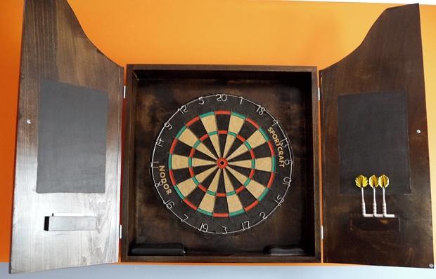 how to make a dartboard cabinet 2