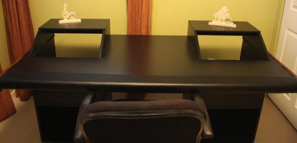 Home Recording Studio Desk Plans Finished desk!
