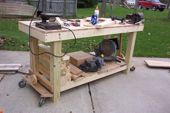 Image Of Diy Retractable Workbench Wheels Workbench Retractable