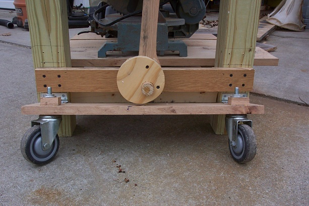 diy workbench retractable casters