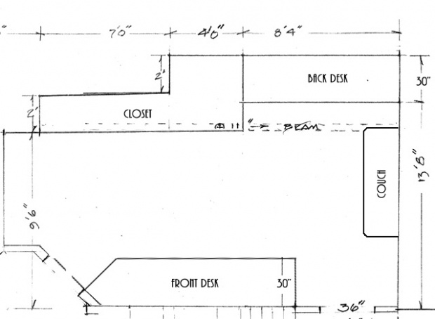 floating wall desk plans
