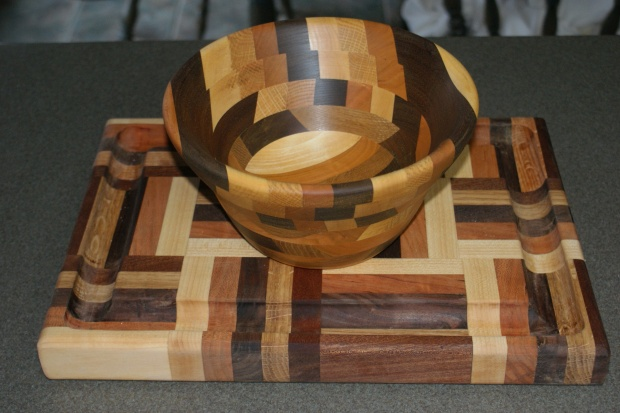 first segmented bowl, matches cutting board - Woodworking Talk - Woodworkers Forum