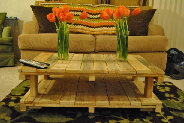 Coffee Table Made Of Pallet Wood Dsc_2136