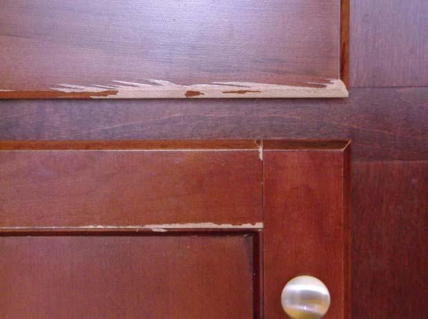 Quick repair for Aristo-Crap cabinet finish? - Woodworking Talk ...