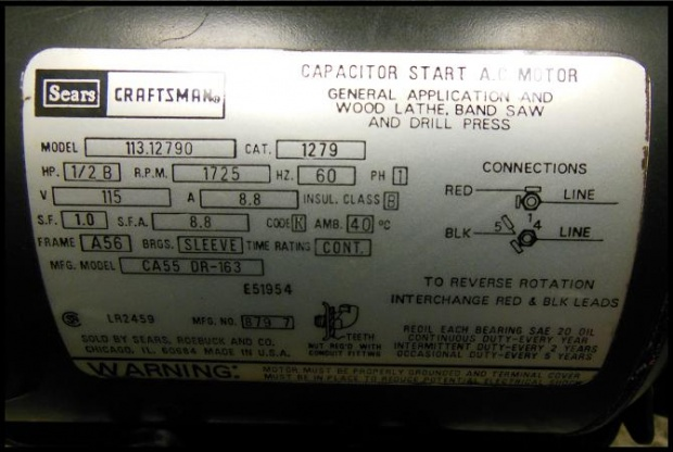 Craftsman band saw wiring diagram wiring diagram not center repair your bandsaw and other motor crash course woodworking keyboard keysfo Image collections