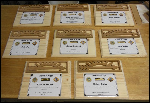 8 simple Arrow of Light awards Woodworking Talk Woodworkers Forum