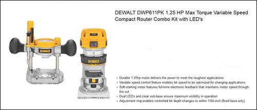 Rookie here help selecting router pls woodworking talk click image for larger version name dwp611pk kitg views 68 size greentooth Gallery