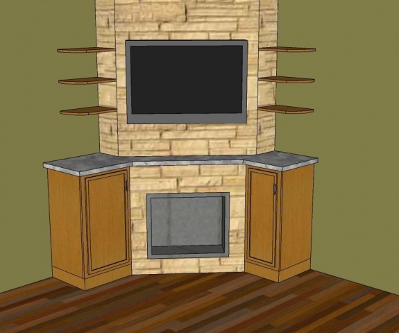 Fireplace Designs With Tv Corner Fireplace TV