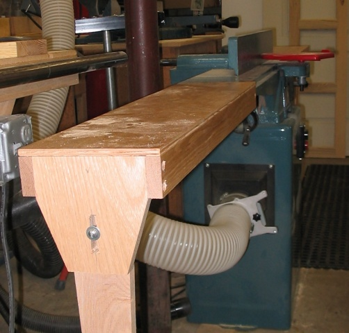 Adjustable Height Planer Extension Table Woodmaster