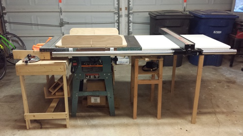 Vega pro 50 table saw fence installed on jet ts woodworking talk click image for larger version name final ts with fenceg views 2389 greentooth Image collections