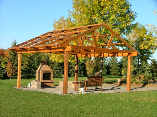 Attached Images - Cedar Vs Fir... Pergola Advice For A 14' Span? - Woodworking Talk