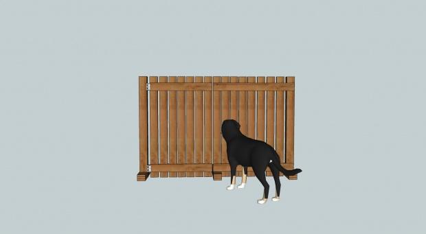 Removable Dog Gate Fence On Patio Hundagirding 1a Jpg